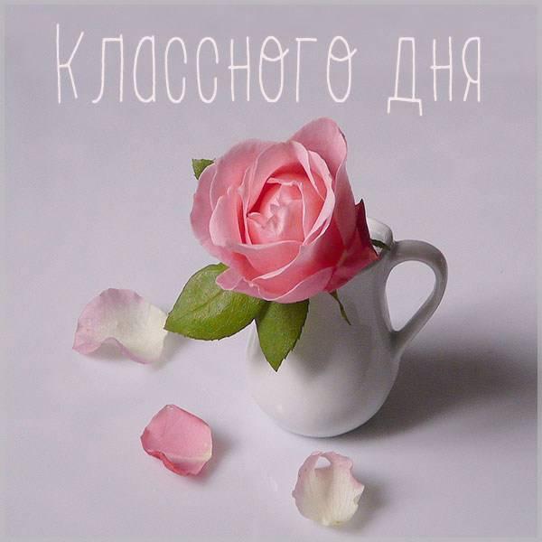 Открытка с пожеланием классного дня - скачать бесплатно на otkrytkivsem.ru