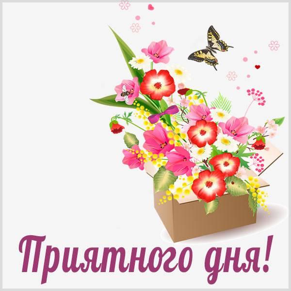 Открытка с пожеланием приятного дня - скачать бесплатно на otkrytkivsem.ru