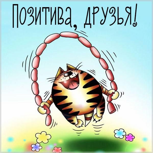 Открытка с позитивом друзьям - скачать бесплатно на otkrytkivsem.ru