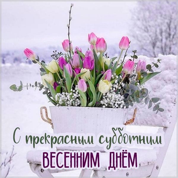 Открытка с субботним весенним днем - скачать бесплатно на otkrytkivsem.ru