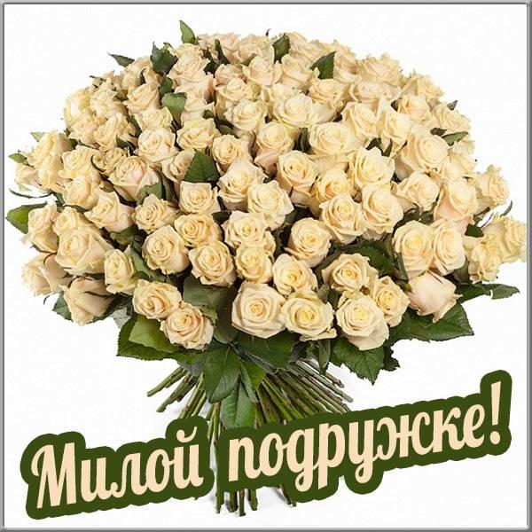 Открытка с цветами для подружки - скачать бесплатно на otkrytkivsem.ru