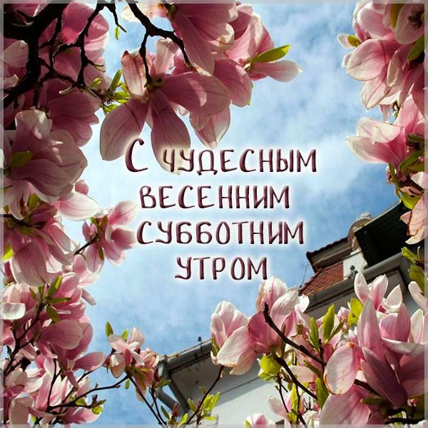 Открытка с весенним субботним утром - скачать бесплатно на otkrytkivsem.ru