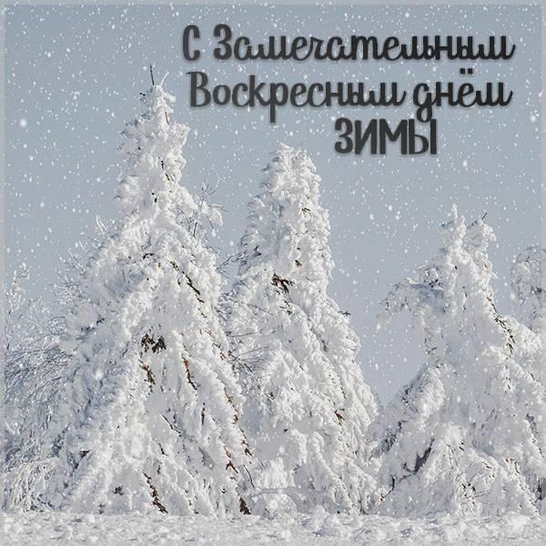 Открытка с воскресным днем зимы - скачать бесплатно на otkrytkivsem.ru