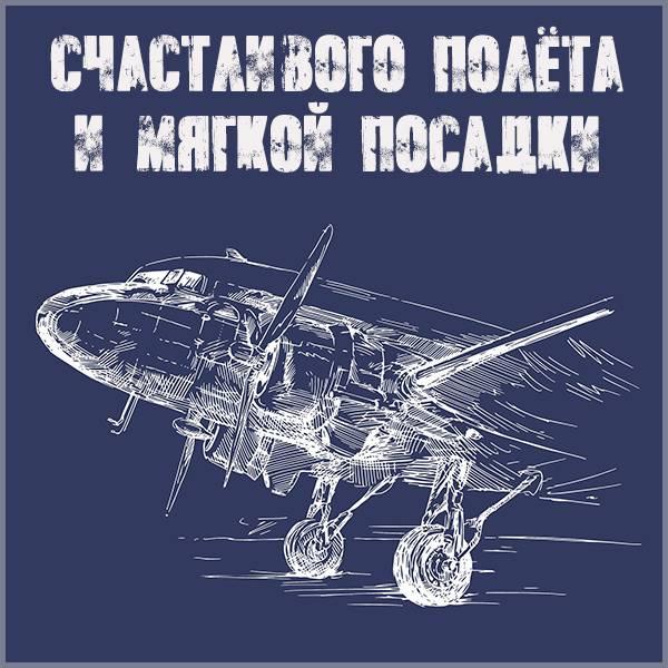 Открытка счастливого полета и мягкой посадки - скачать бесплатно на otkrytkivsem.ru