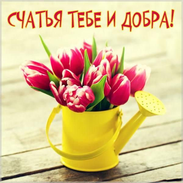 Открытка счастья тебе и добра - скачать бесплатно на otkrytkivsem.ru
