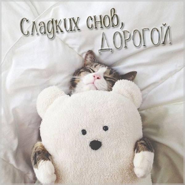 Открытка сладких снов дорогой - скачать бесплатно на otkrytkivsem.ru