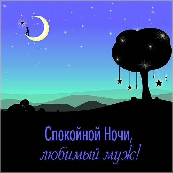 Открытка со спокойной ночи любимому мужу - скачать бесплатно на otkrytkivsem.ru