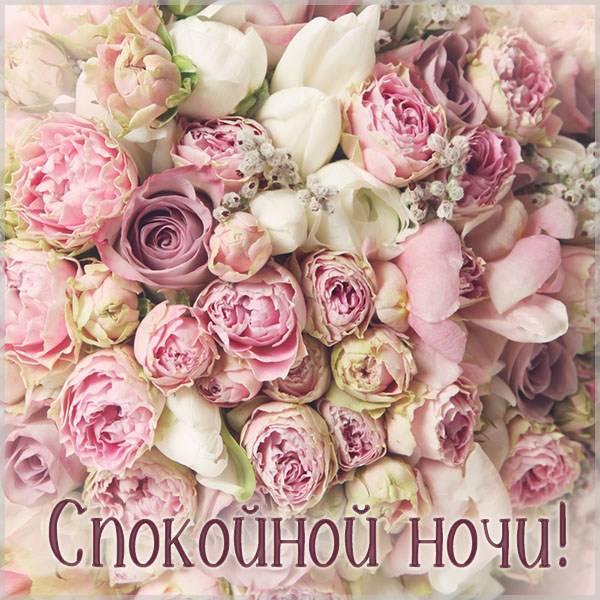 Открытка со спокойной ночи женщине красивая - скачать бесплатно на otkrytkivsem.ru