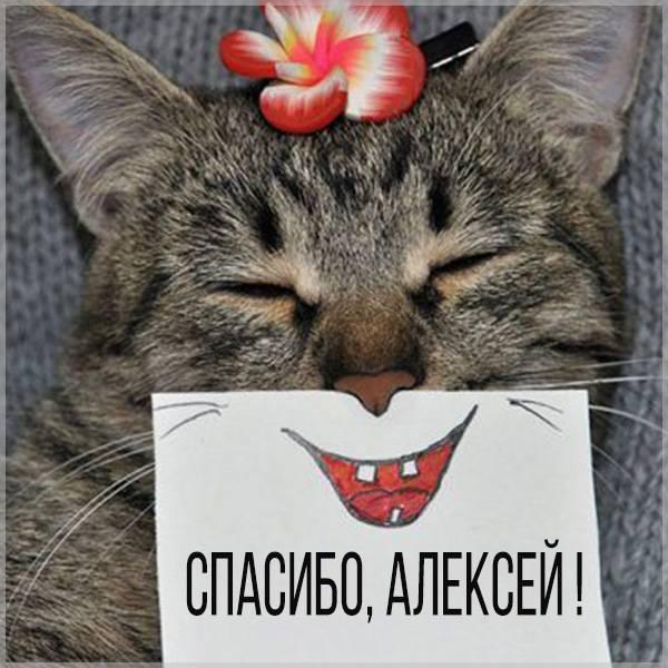 Открытка спасибо Алексей - скачать бесплатно на otkrytkivsem.ru