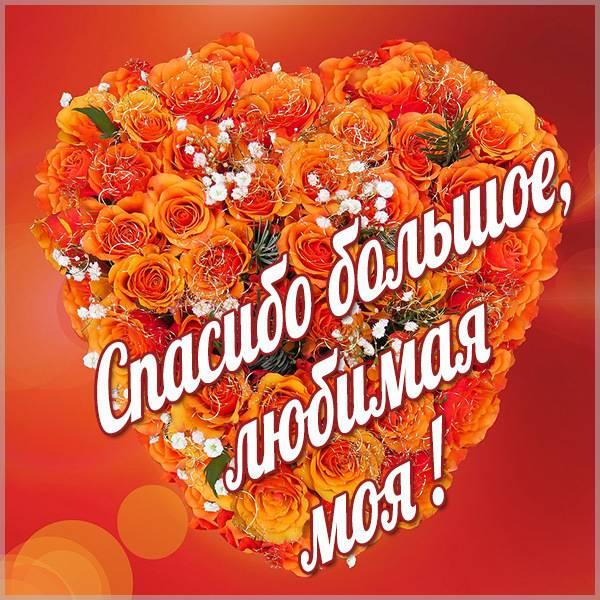 Открытка спасибо большое любимая - скачать бесплатно на otkrytkivsem.ru
