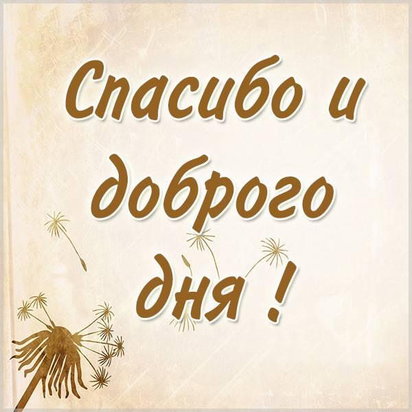 Открытка спасибо доброго дня - скачать бесплатно на otkrytkivsem.ru