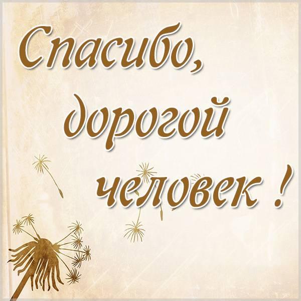 Открытка спасибо дорогой человек - скачать бесплатно на otkrytkivsem.ru