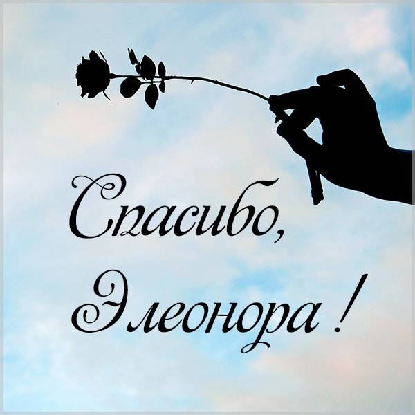 Открытка спасибо Элеонора - скачать бесплатно на otkrytkivsem.ru
