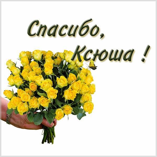 Открытка спасибо Ксюша - скачать бесплатно на otkrytkivsem.ru