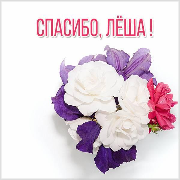 Открытка спасибо Леша - скачать бесплатно на otkrytkivsem.ru