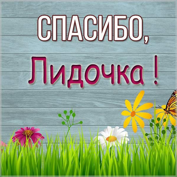 Открытка спасибо Лидочка - скачать бесплатно на otkrytkivsem.ru