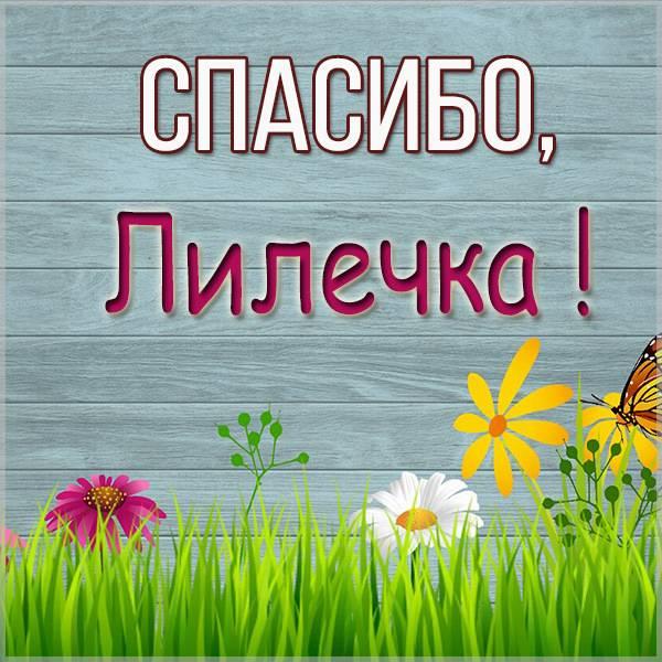 Открытка спасибо Лилечка - скачать бесплатно на otkrytkivsem.ru