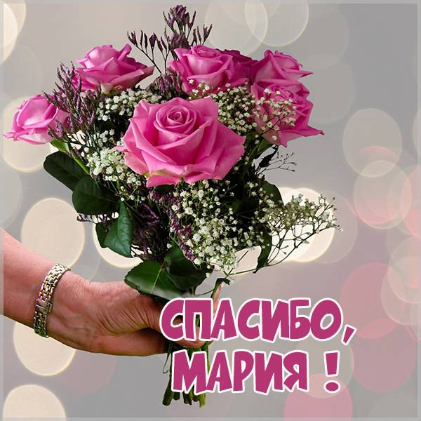 Открытка спасибо Мария - скачать бесплатно на otkrytkivsem.ru