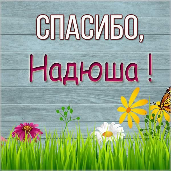Открытка спасибо Надюша - скачать бесплатно на otkrytkivsem.ru