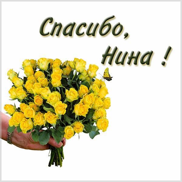 Открытка спасибо Нина - скачать бесплатно на otkrytkivsem.ru