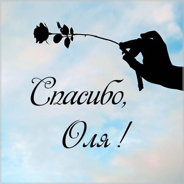 Открытка спасибо Оля - скачать бесплатно на otkrytkivsem.ru