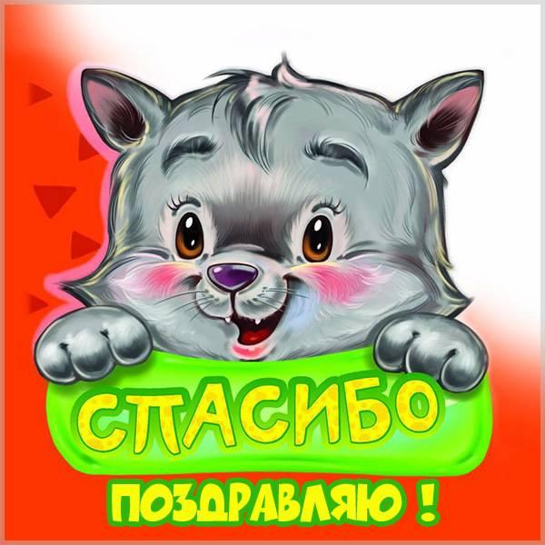 Открытка спасибо поздравляю - скачать бесплатно на otkrytkivsem.ru