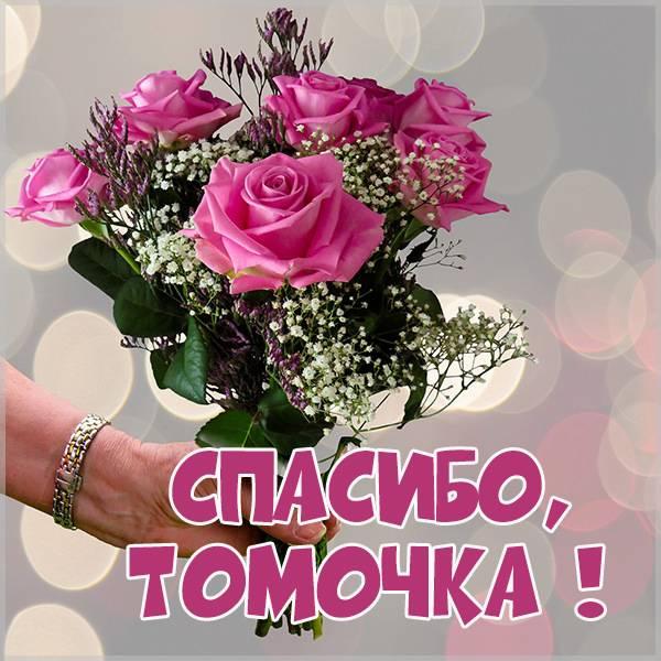 Открытка спасибо Томочка - скачать бесплатно на otkrytkivsem.ru