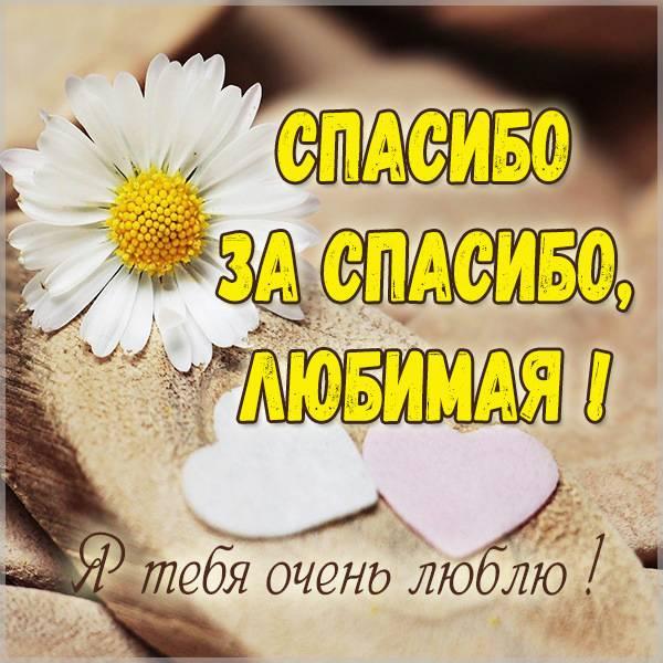 Открытка спасибо за спасибо любимая - скачать бесплатно на otkrytkivsem.ru