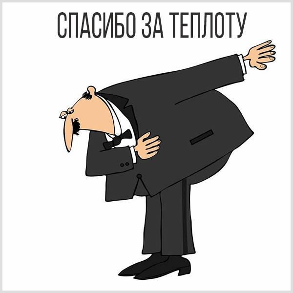 Открытка спасибо за теплоту - скачать бесплатно на otkrytkivsem.ru
