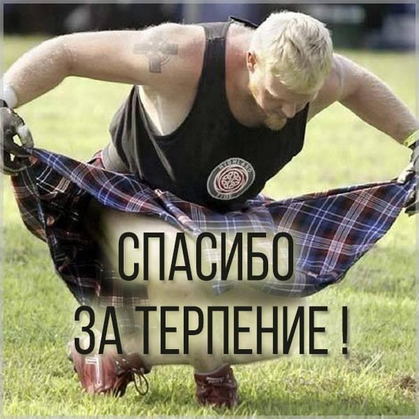 Открытка спасибо за терпение - скачать бесплатно на otkrytkivsem.ru
