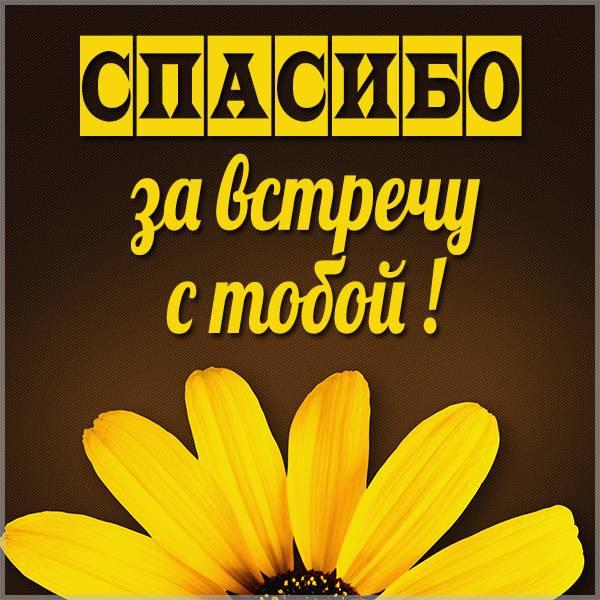 Открытка спасибо за встречу с тобой - скачать бесплатно на otkrytkivsem.ru