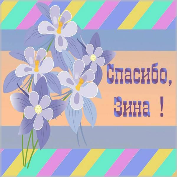 Открытка спасибо Зина - скачать бесплатно на otkrytkivsem.ru