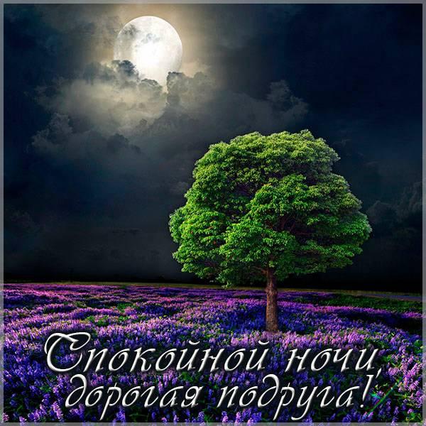 Открытка спокойной ночи дорогая подруга - скачать бесплатно на otkrytkivsem.ru