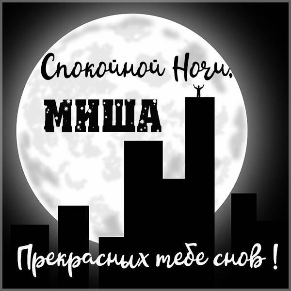 Открытка спокойной ночи Миша - скачать бесплатно на otkrytkivsem.ru