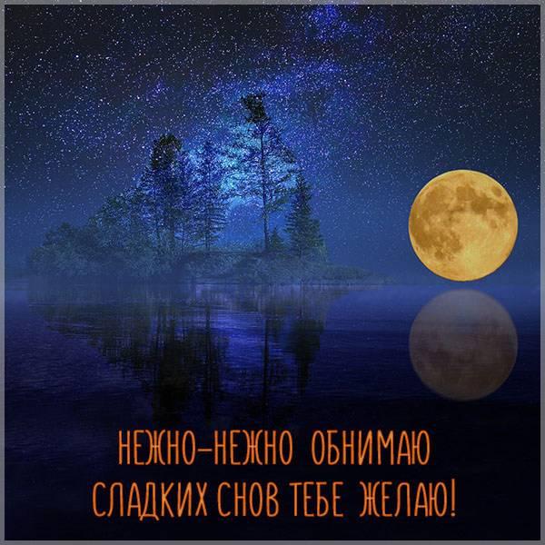 Открытка спокойной ночи сладких снов летняя - скачать бесплатно на otkrytkivsem.ru