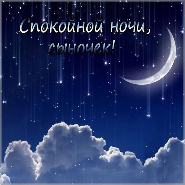 Открытка спокойной ночи сыночек - скачать бесплатно на otkrytkivsem.ru