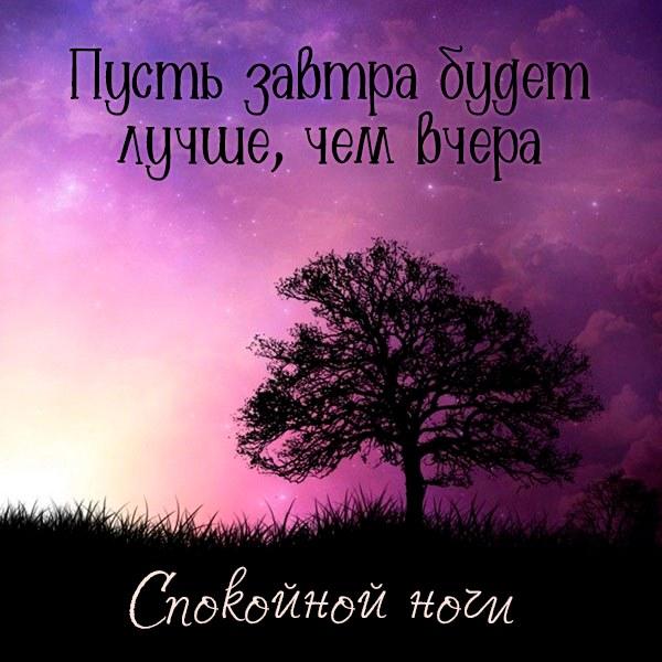 Открытка спокойной ночи женщине - скачать бесплатно на otkrytkivsem.ru