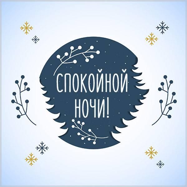 Открытка спокойной ночи зимняя картинка - скачать бесплатно на otkrytkivsem.ru