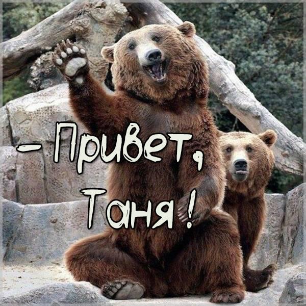 Открытка Таня привет - скачать бесплатно на otkrytkivsem.ru