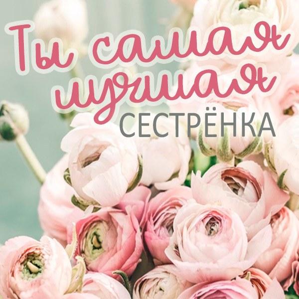 Открытка ты самая лучшая сестренка - скачать бесплатно на otkrytkivsem.ru