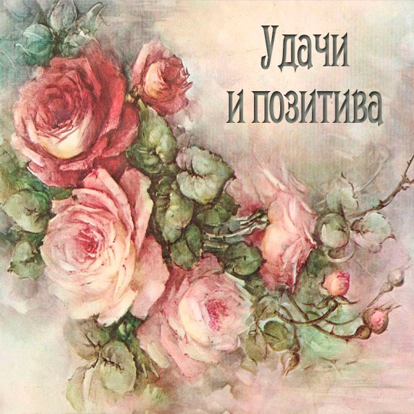 Открытка удачи и позитива - скачать бесплатно на otkrytkivsem.ru