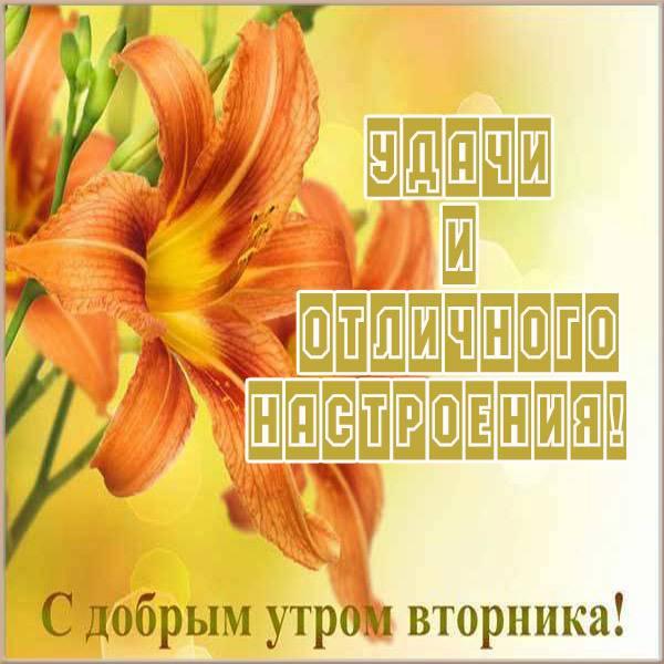 Открытка удачного дня и хорошего вторника - скачать бесплатно на otkrytkivsem.ru