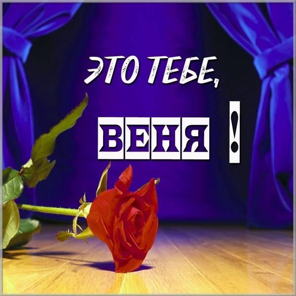 Открытка Веня это тебе - скачать бесплатно на otkrytkivsem.ru