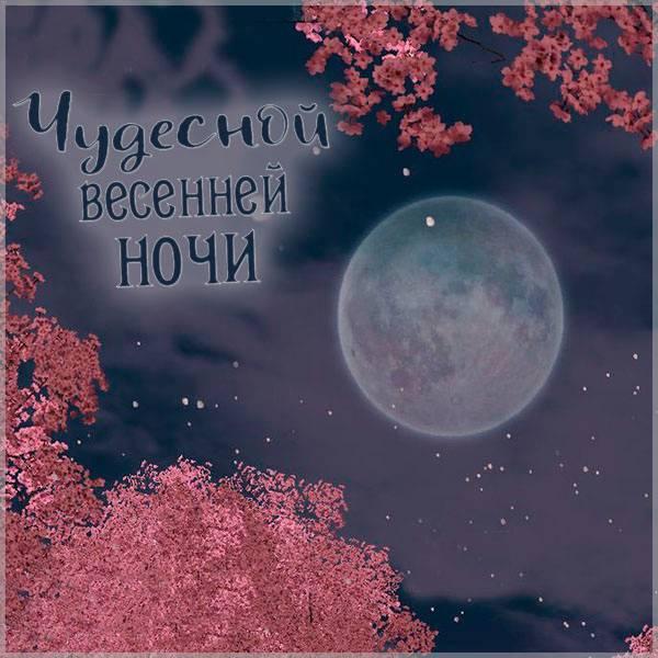 Открытка весенней ночи - скачать бесплатно на otkrytkivsem.ru