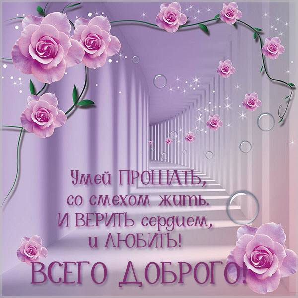 Открытка всего доброго красивая - скачать бесплатно на otkrytkivsem.ru