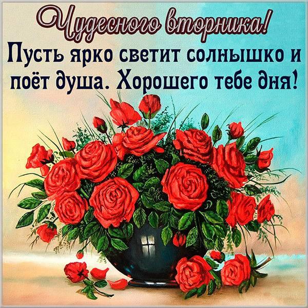 Открытка вторник день чудесный - скачать бесплатно на otkrytkivsem.ru
