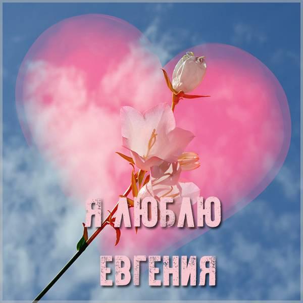 Открытка я люблю Евгения - скачать бесплатно на otkrytkivsem.ru
