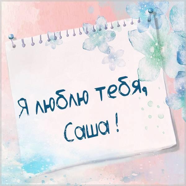 Открытка я люблю тебя Саша - скачать бесплатно на otkrytkivsem.ru