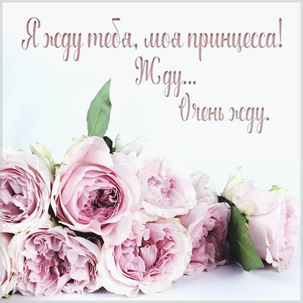 Открытка я жду тебя моя принцесса - скачать бесплатно на otkrytkivsem.ru