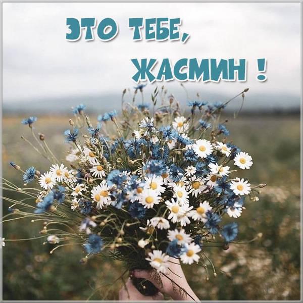 Открытка Жасмин это тебе - скачать бесплатно на otkrytkivsem.ru